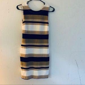 Banana Republic Sleeveless Lined Striped Dress